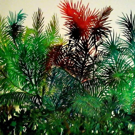 (CreativeWork) The Jungle by Sharon Wood. Acrylic Paint. Shop online at Bluethumb.