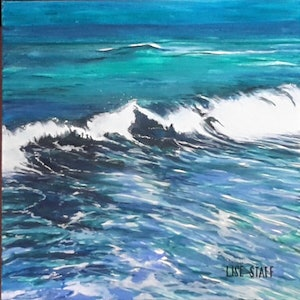 (CreativeWork) Let's go to the Beach 2 by Lise Staff. arcylic-painting. Shop online at Bluethumb.