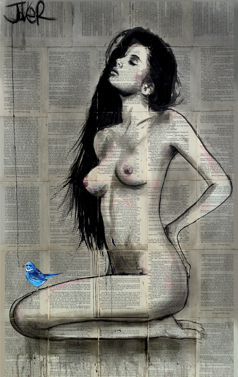 (CreativeWork) THE LITTLE BIRD by loui jover. drawing. Shop online at Bluethumb.