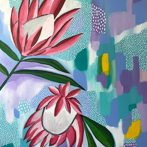 (CreativeWork) Seeking Beauty by Hayley Mischief Lord. arcylic-painting. Shop online at Bluethumb.