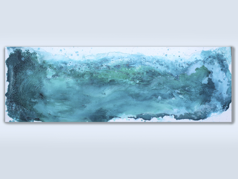 (CreativeWork) Maitland Bay by Alexandra Johnson. mixed-media. Shop online at Bluethumb.