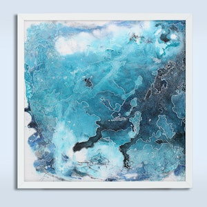 (CreativeWork) Sea Spray No.1 by Alexandra Johnson. mixed-media. Shop online at Bluethumb.