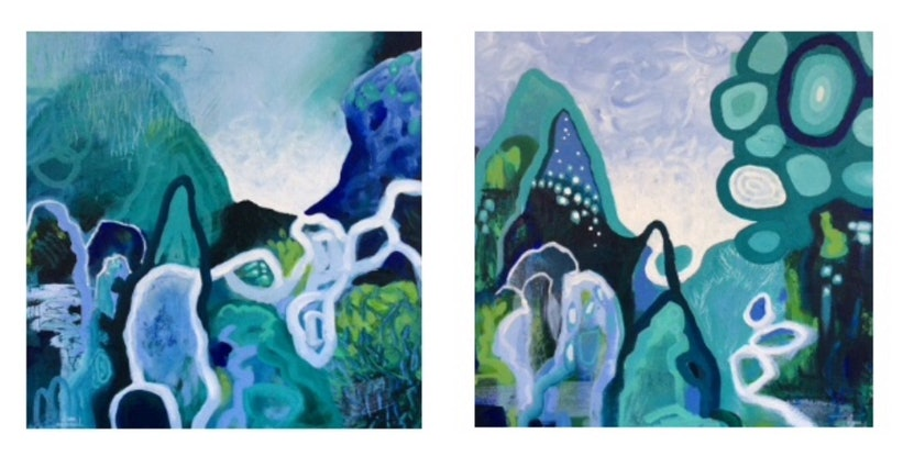 (CreativeWork) Another Dimension by Diane McDonald. Acrylic Paint. Shop online at Bluethumb.