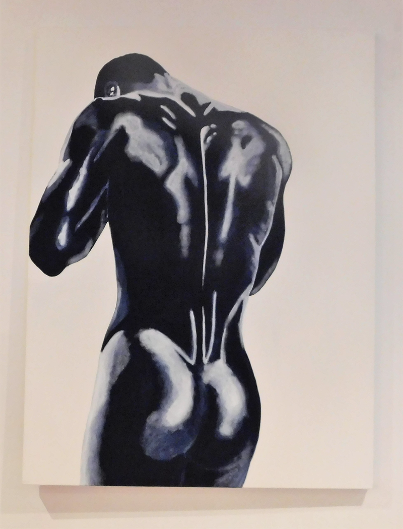 (CreativeWork) male nude by Deb Krinas. Acrylic Paint. Shop online at Bluethumb.