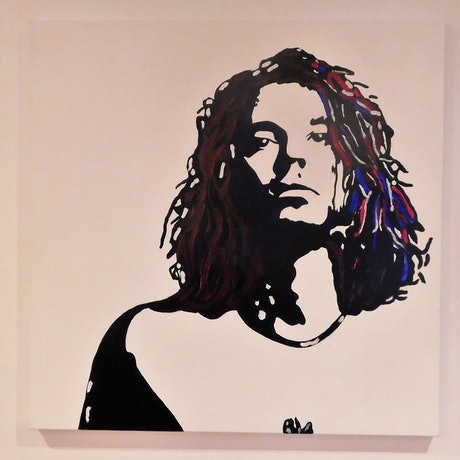 (CreativeWork) michael by Deb Krinas. Acrylic Paint. Shop online at Bluethumb.