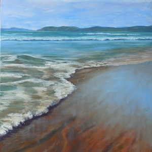 (CreativeWork) Surge - Seascape by Anne Strambi. oil-painting. Shop online at Bluethumb.