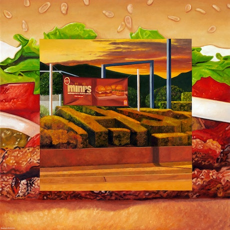 (CreativeWork) 'Home of the Whopper' by Donovan Christie. Oil Paint. Shop online at Bluethumb.