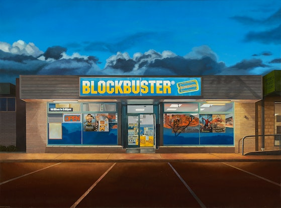 (CreativeWork) 'Make It A Blockbuster Night' by Donovan Christie. Oil Paint. Shop online at Bluethumb.