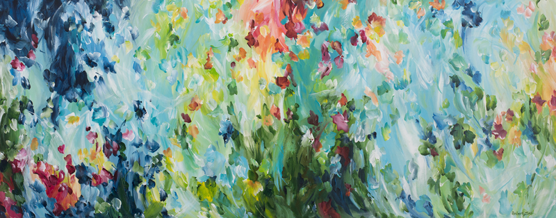 (CreativeWork) Seasonal Enchantment - RESERVED FOR STELLA by Amber Gittins. arcylic-painting. Shop online at Bluethumb.