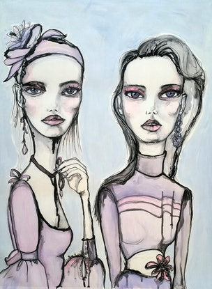 (CreativeWork)  Chantel and Zoe Ed. 3 of 49 by Luisa Manea. Print. Shop online at Bluethumb.