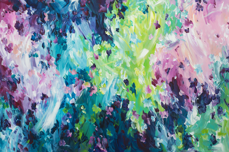 (CreativeWork) Acquired Love by Amber Gittins. arcylic-painting. Shop online at Bluethumb.