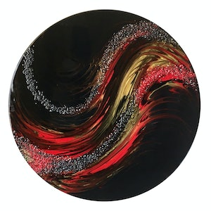 (CreativeWork) Molten Rock - Resin on Wood by Sue Findlay. resin. Shop online at Bluethumb.