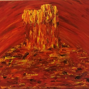 (CreativeWork) Idracowra - Chambers Pillar by Kylie Chambers. acrylic-painting. Shop online at Bluethumb.