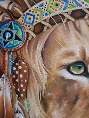(CreativeWork) SOLOMON by Nicolee Payne. Oil Paint. Shop online at Bluethumb.