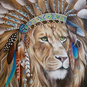 (CreativeWork) SOLOMON by Nicolee Payne. oil-painting. Shop online at Bluethumb.