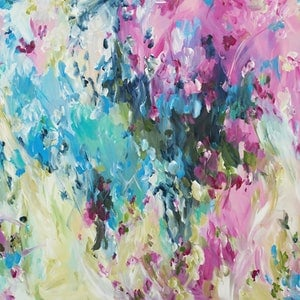 (CreativeWork) Outback Blossom by Amber Gittins. arcylic-painting. Shop online at Bluethumb.