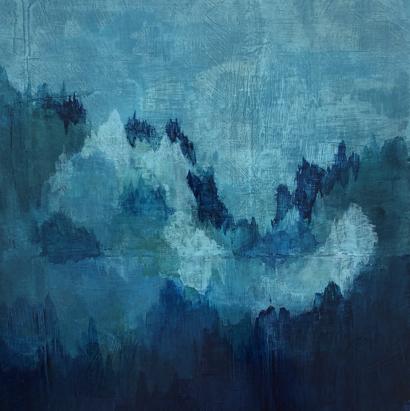 (CreativeWork) Rising Mist by Caroline Wisler. arcylic-painting. Shop online at Bluethumb.