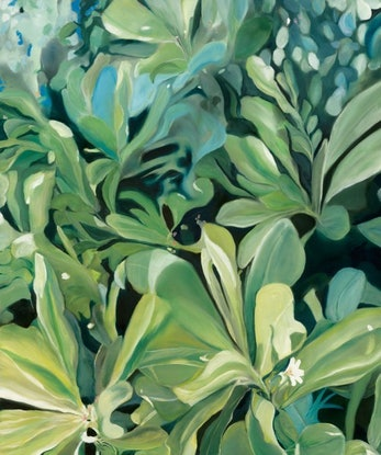 (CreativeWork) Naupaka Legend by Meredith Howse. Oil. Shop online at Bluethumb.