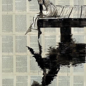 (CreativeWork) SERENE DAYS by loui jover. drawing. Shop online at Bluethumb.