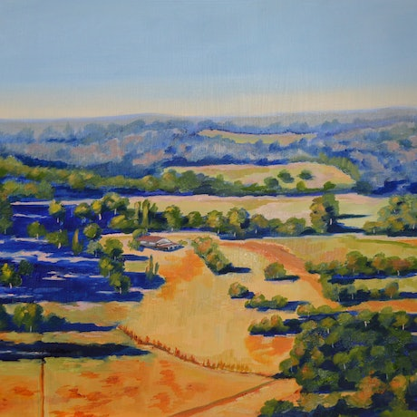 (CreativeWork) Early Evening Shadows by Murray McLeod. Oil Paint. Shop online at Bluethumb.