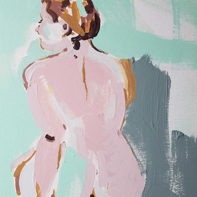 (CreativeWork) Painted nude by Tessa Pithouse. Acrylic Paint. Shop online at Bluethumb.