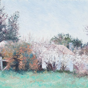 (CreativeWork) BRAIDWOOD IN SPRING - FRAMED by Jan Matson. oil-painting. Shop online at Bluethumb.