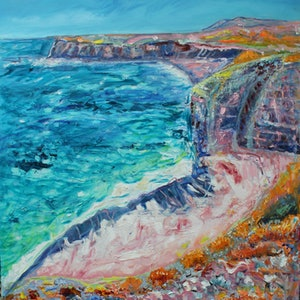 (CreativeWork) INNES NATIONAL PARK, YORK PENINSULA by Maureen Finck. oil-painting. Shop online at Bluethumb.