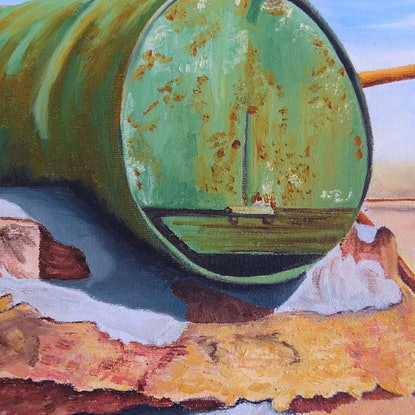 (CreativeWork) Country Mail by Delma White. Oil Paint. Shop online at Bluethumb.