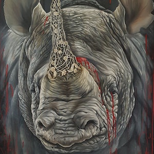 (CreativeWork) BLACK BLOOD by Nicolee Payne. oil-painting. Shop online at Bluethumb.