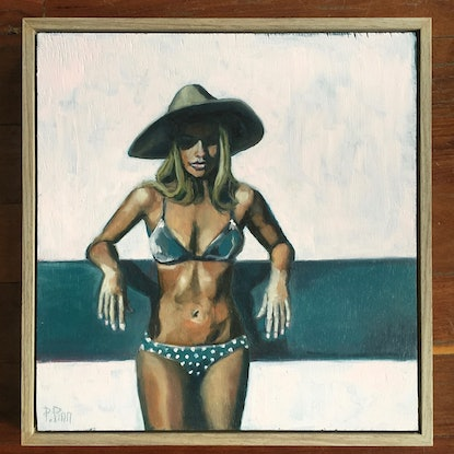 (CreativeWork) drying in the sun by Petra Pinn. Oil. Shop online at Bluethumb.