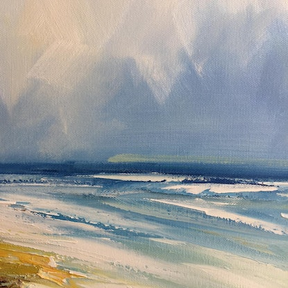 (CreativeWork) Shallow waters by Liliana gigovic. Oil. Shop online at Bluethumb.