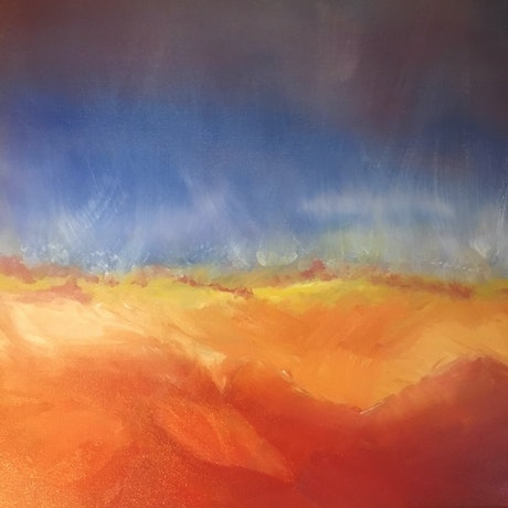 (CreativeWork) Emergence 4 by Kitty Berton. Oil Paint. Shop online at Bluethumb.