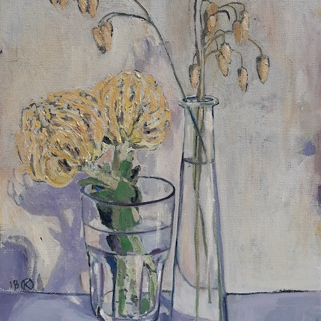 (CreativeWork) At Home by Kathleen Agius. Oil. Shop online at Bluethumb.