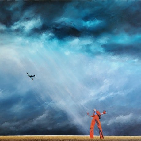 (CreativeWork) Orange is the new black by James Robertson. Oil Paint. Shop online at Bluethumb.