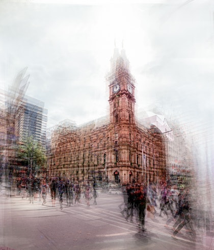 (CreativeWork) Melbourne GPO by Joseph Remi d'Argent. photograph. Shop online at Bluethumb.