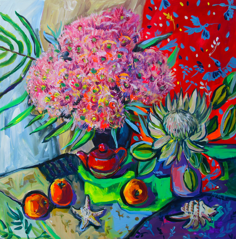 (CreativeWork) Still Life with Starfish by Katerina Apale. arcylic-painting. Shop online at Bluethumb.