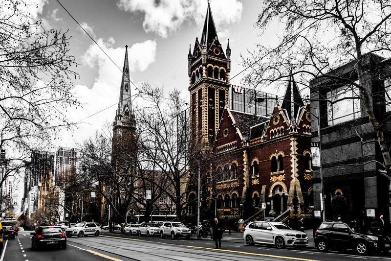 (CreativeWork) Melbourne on Collins by Joseph Remi d'Argent. photograph. Shop online at Bluethumb.