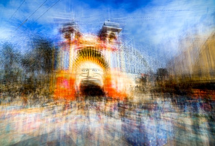 (CreativeWork) Going to The Luna Park 1 by Joseph Remi d'Argent. photograph. Shop online at Bluethumb.