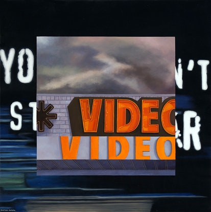 (CreativeWork) 'Ezy Does It' by Donovan Christie. Oil. Shop online at Bluethumb.