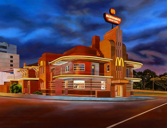 (CreativeWork) 'Return Of The Mac' by Donovan Christie. Oil Paint. Shop online at Bluethumb.