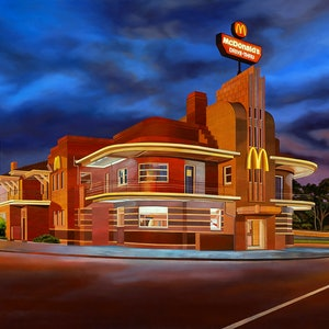 (CreativeWork) 'Return Of The Mac' by Donovan Christie. oil-painting. Shop online at Bluethumb.