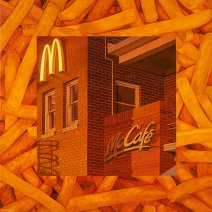 (CreativeWork) 'Its Mac Time' by Donovan Christie. oil-painting. Shop online at Bluethumb.