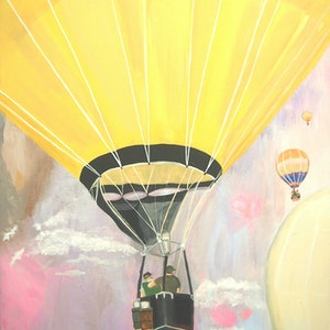 (CreativeWork) Up and Away by Tulika Das. arcylic-painting. Shop online at Bluethumb.