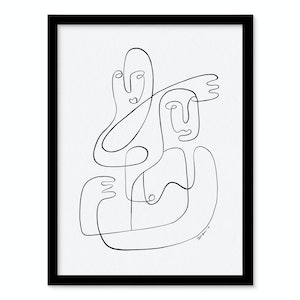 (CreativeWork) Tango - A0 Black Frame by Angus Martin. drawing. Shop online at Bluethumb.