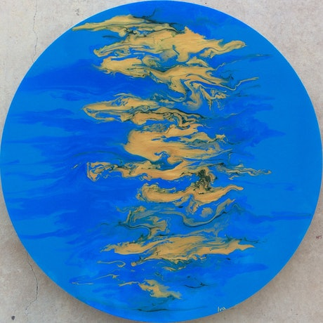 (CreativeWork) Golden Dragon by Iva Hancevic-Grabic. Acrylic Paint. Shop online at Bluethumb.
