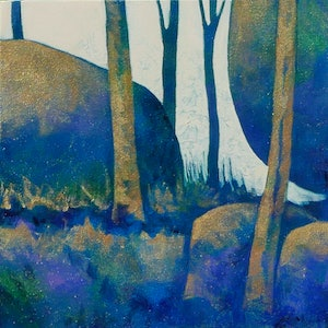 (CreativeWork) In the Forest by Karyn Fendley. arcylic-painting. Shop online at Bluethumb.