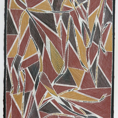 (CreativeWork) Marlwa (Pandanus Spirit) 2891-18 by William Manakgu. Acrylic Paint. Shop online at Bluethumb.