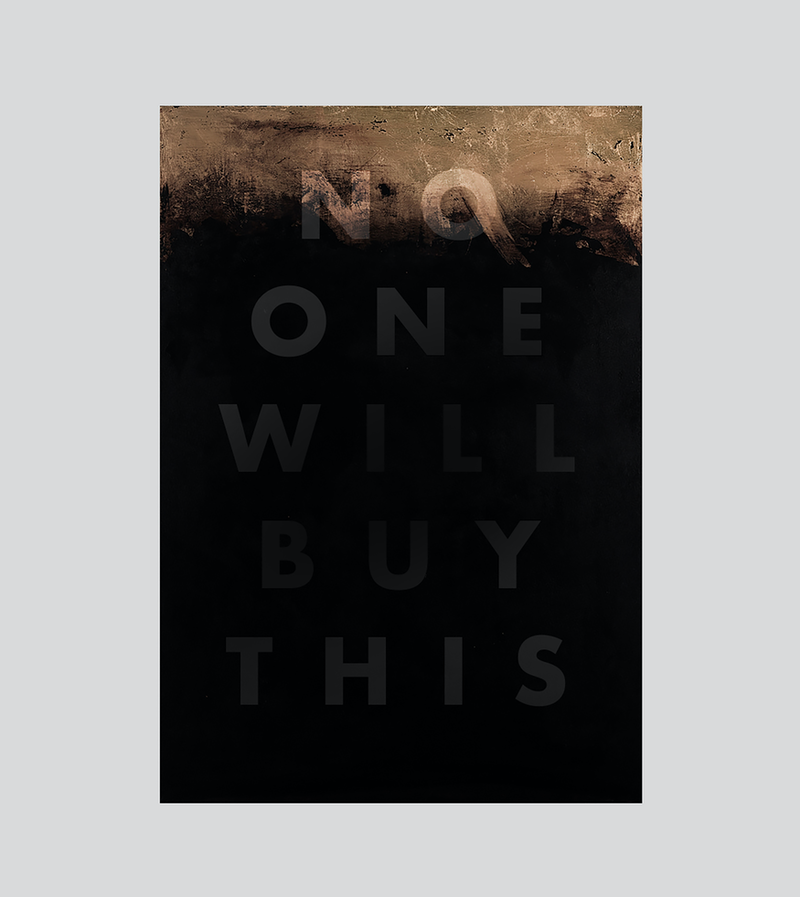 (CreativeWork) No one will buy this  (gold) Ed. 50 of 50 by Stephen McKenzie. print. Shop online at Bluethumb.
