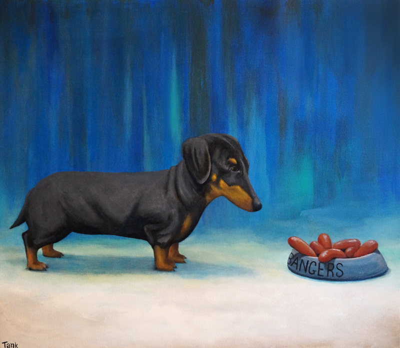 (CreativeWork) That's The Wurst by Tank .. arcylic-painting. Shop online at Bluethumb.