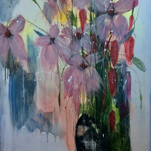 (CreativeWork) Gratitude by Louise Croese. arcylic-painting. Shop online at Bluethumb.